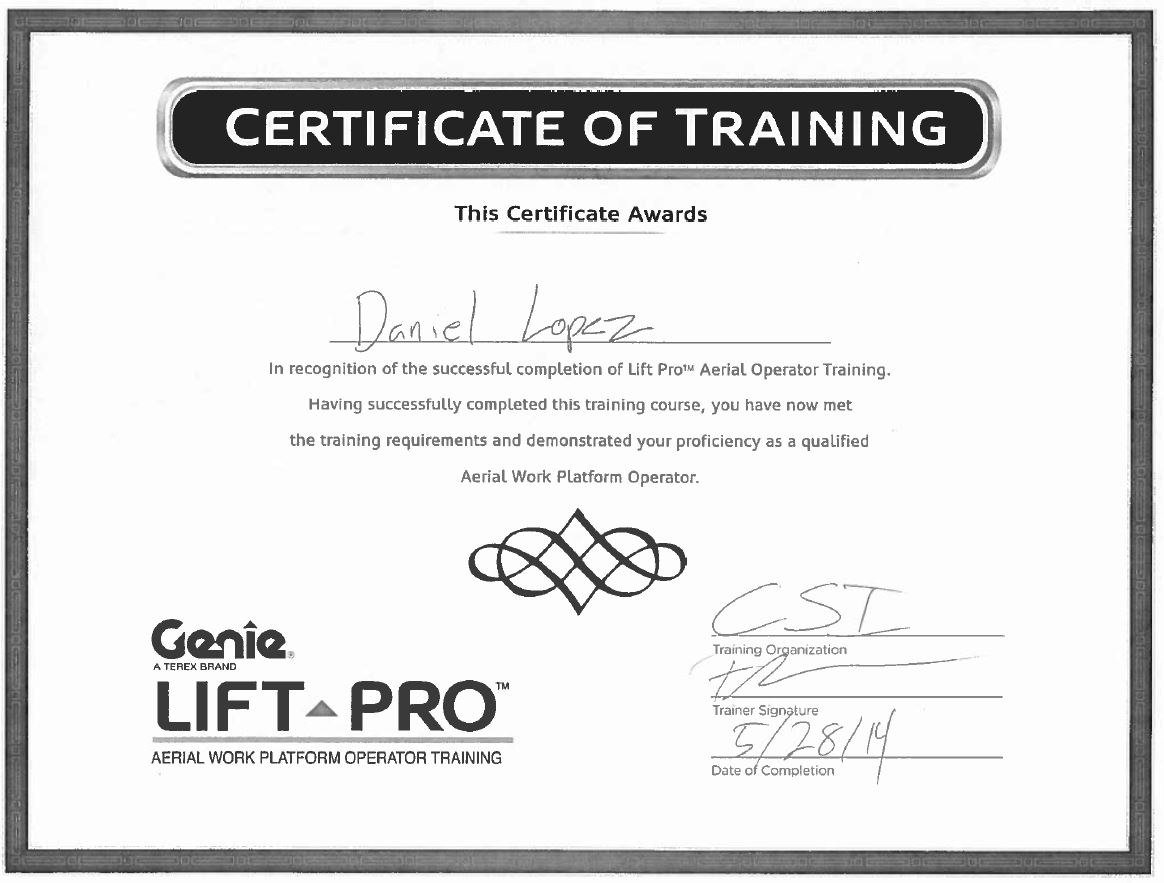 Certifications page 20 construction specialties inc dlopez aerial lift cert 1betcityfo Image collections
