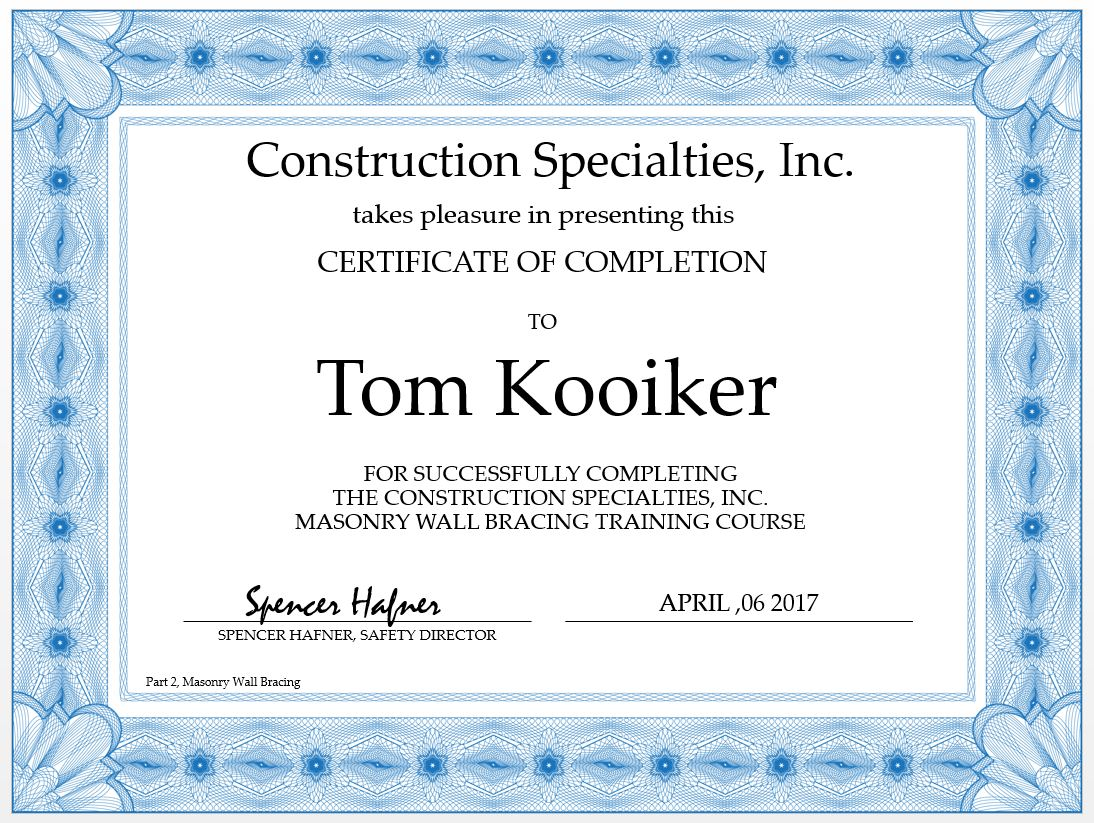 Certifications page 17 construction specialties inc posted in certifications 1betcityfo Images