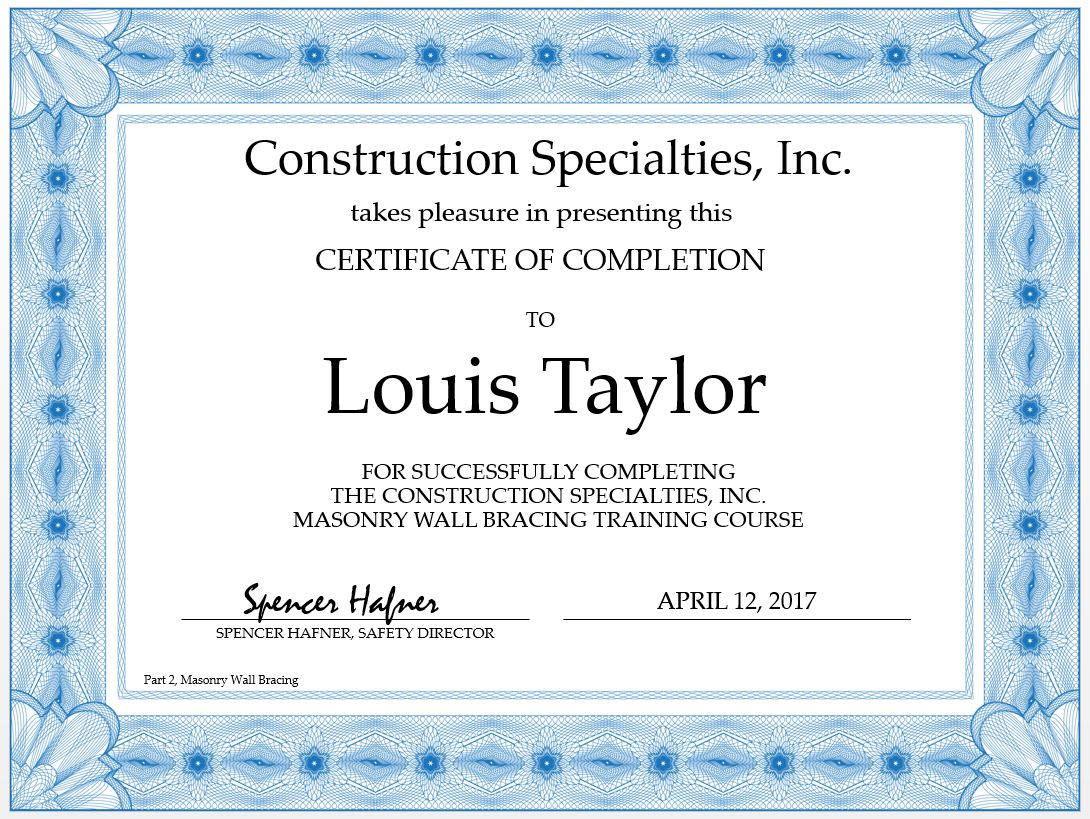 Certifications page 14 construction specialties inc posted in certifications xflitez Gallery